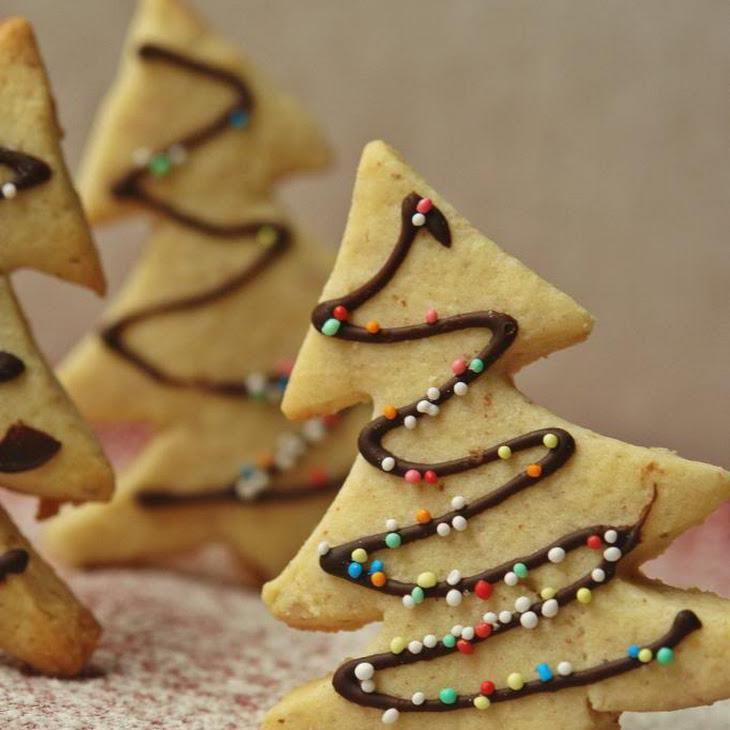 Almond Christmas Tree Cookies Recipe