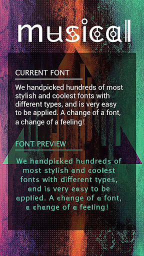 Musical Font for FlipFont , Cool Fonts Text Free ss1