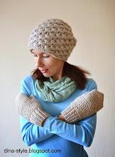 Photo: женская вязаная шапка-носок Зернышки
