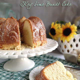 Key Lime Bundt Cake for March's Tropical #BundtBakers