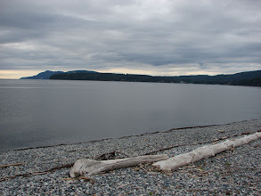 Photo: Gillies Bay from the beach at Harwood Point.