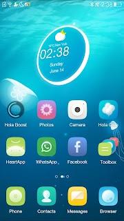 Jellyfish Hola 3D Theme screenshot 00