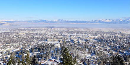 Photo: Another view of the Capital City the day before our Stemple to Flesher snowshoe hike.