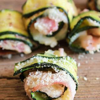 Bite Size Grilled Zucchini Roll-Ups