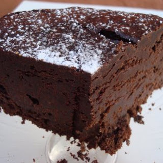 Flour-less Chocolate Cake.