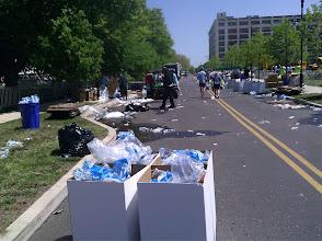 Photo: Clean up begins