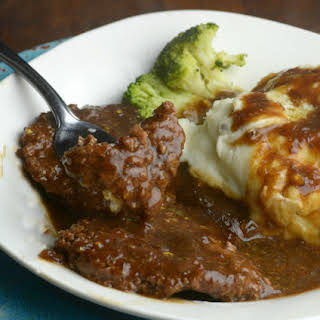 Instant Pot Cubed Steak and Gravy.