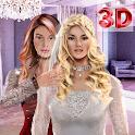 3D wedding make up Salon & dress up games icon