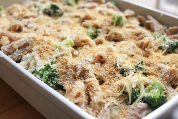 Baked Three Cheese Pasta With Roasted Chicken Recipe
