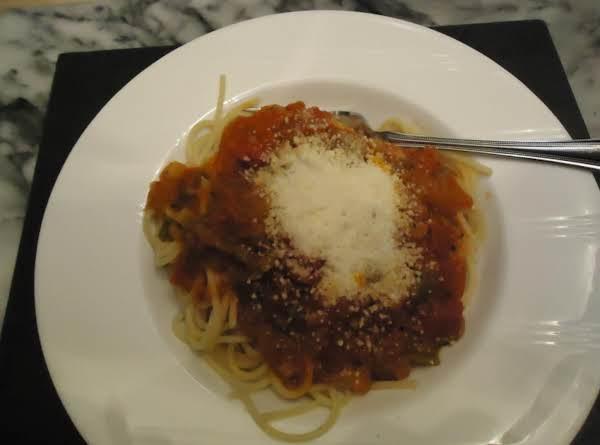 My Homemade  Garden Fresh  Vegetable Spaghetti Sauce