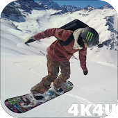 4K Skiing and Snowboarding Video Live Wallpaper