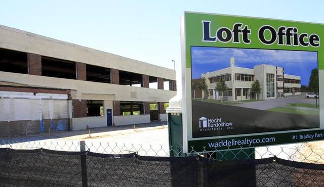 The building at 408 12th Street, shown Friday, is being turned into loft office space and is scheduled to be occupied by October. Waddell Realty is marketing it and River City Contracting is the contractor.