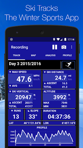 Screenshot for Ski Tracks in United States Play Store