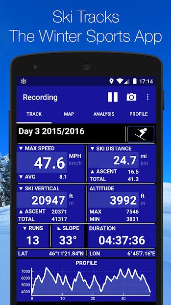 Ski Tracks Android App Screenshot