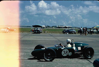 Photo: July 4, 1969; photo by Ron Nash; Weldon Nash leaving the pits at SCCA Galveston Race for the Nash Scrambler's first race; This was the Maiden Voyage for the Nash Scrambler FV.