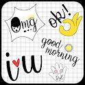 Cute Word Doodle Emoji Stickers icon