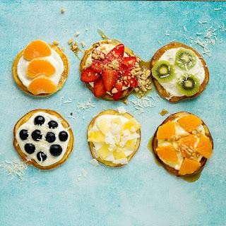 Fruit & Yoghurt Pancakes.