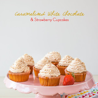 White Chocolate Strawberry Cupcakes Recipes