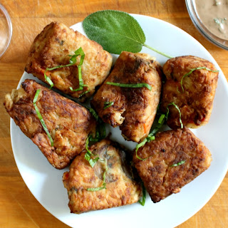 Rice Fritters with a Balsamic Basil Sage Aioli.