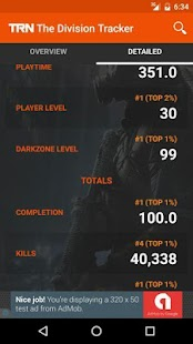 TRN Stats: The Division- screenshot thumbnail