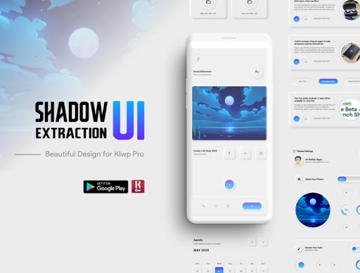 Shadow Extraction UI klwp/Kustom screenshot 1