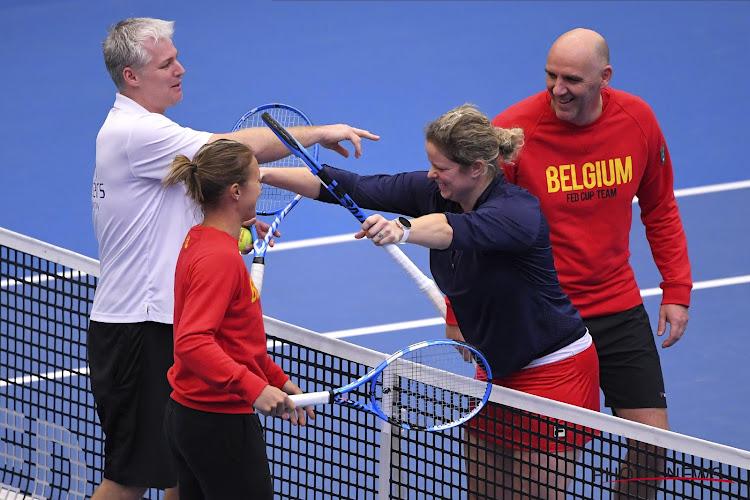 Kirsten Flipkens Kim Clijsters Johan Van Herck