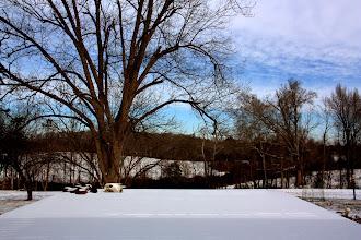 Photo: The deck under snow