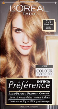 L'Oreal Paris Preference Infinia Hair Colour - 7.3 Florida Honey Blonde