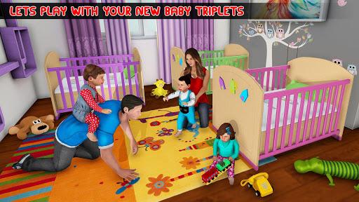 New Mother Baby Triplets Family Simulator 1.0.4 APK MOD screenshots 1