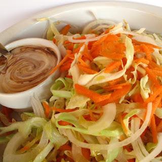 Cabbage Salad with Yogurt Dressing.