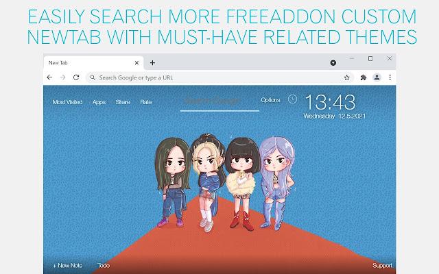 Kpop Blackpink Chibi Wallpaper HD Kpop Blackpink Chibi Custom New Tab
