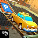 Real taxi driving game : Classic car parking arena icon