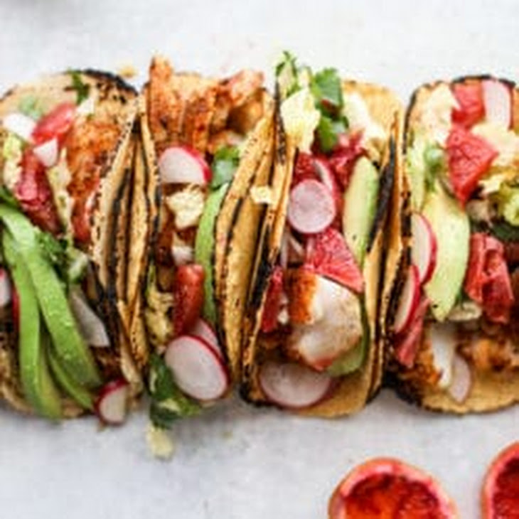 Cajun Fish Tacos with Blood Orange Slaw
