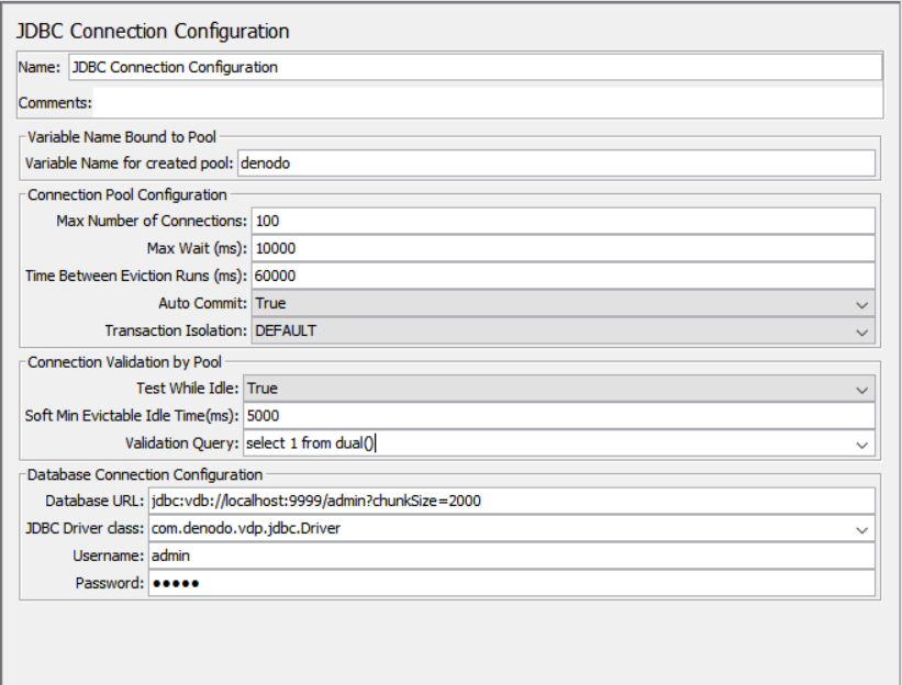 Denodo Load Testing with Apache JMeter