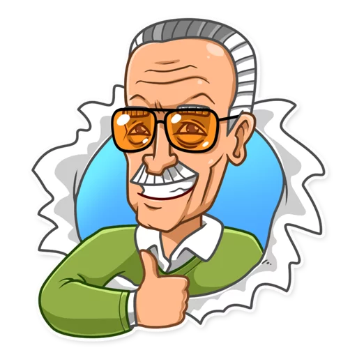 Stickers Stan Lee Icon