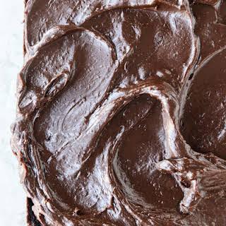 One Bowl Fudgy Whiskey Chocolate Cake.