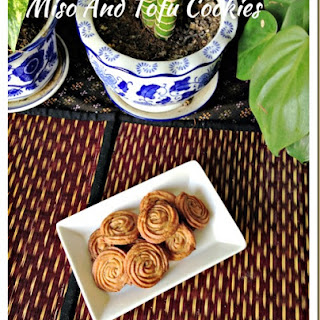 A Healthy, Vegetarian Cookie–Miso Tofu Cookies (味噌豆腐饼干 or 味噌豆腐ビスケット).