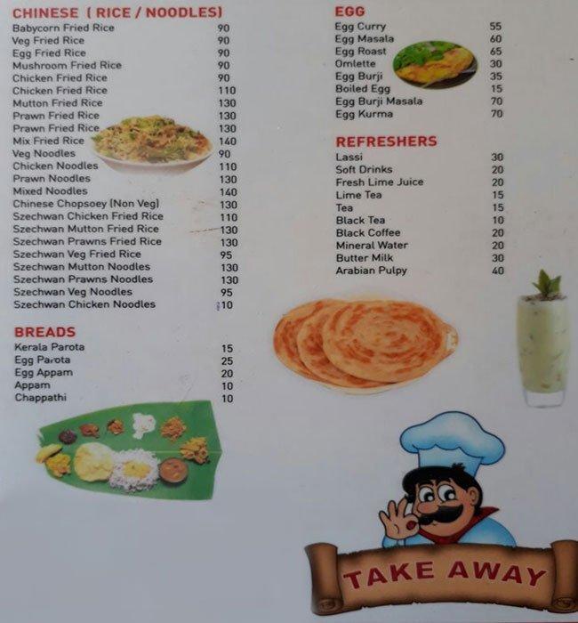 Naadan's Restaurant menu 5