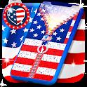 USA flag zipper lock screen icon