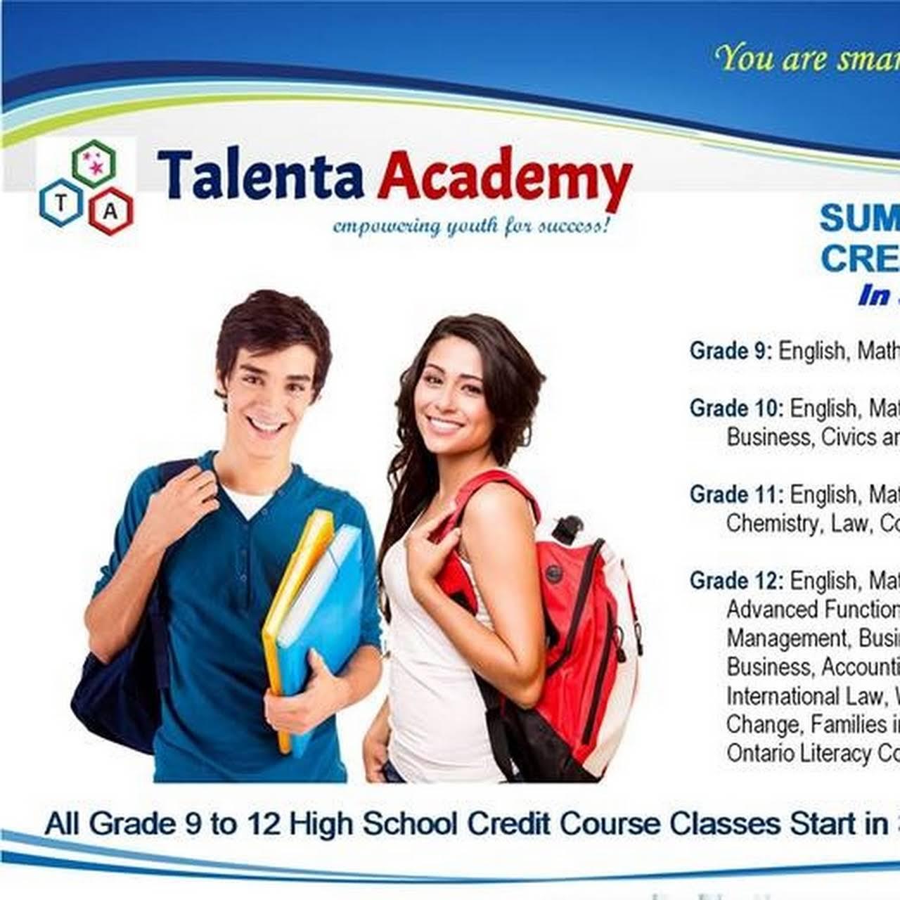 Talenta Academy - Talenta Academy is an Ontario Secondary Private