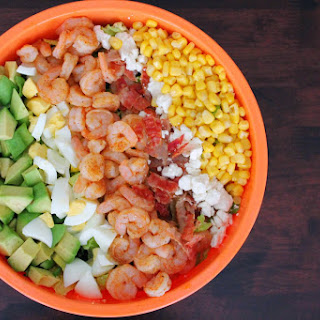 Cajun Shrimp Cobb Salad with Cilantro Lime Vinaigrette