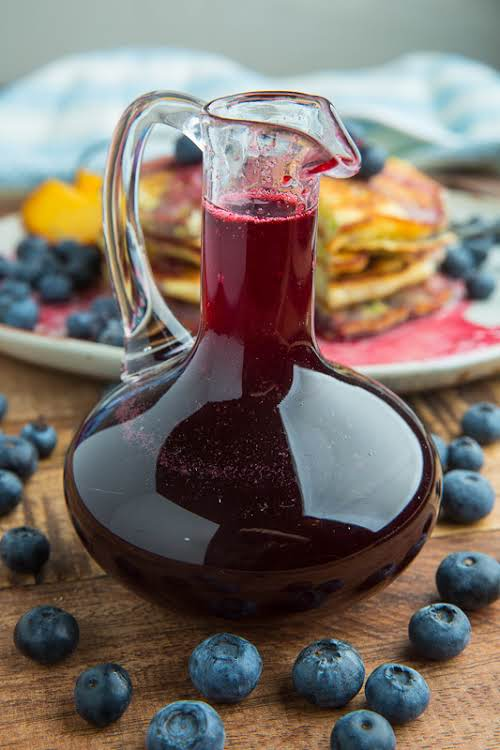 """Blueberry Syrup""""A quick and easy blueberry simple syrup that is perfect for..."""