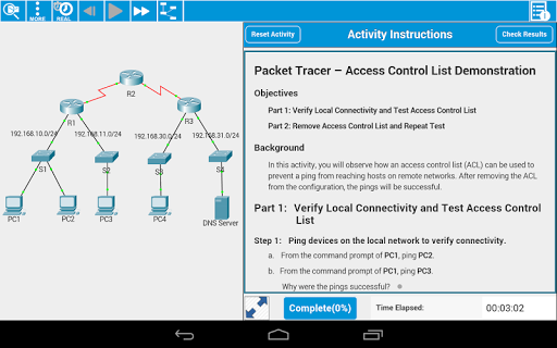 Cisco Packet Tracer Mobile screenshot 1