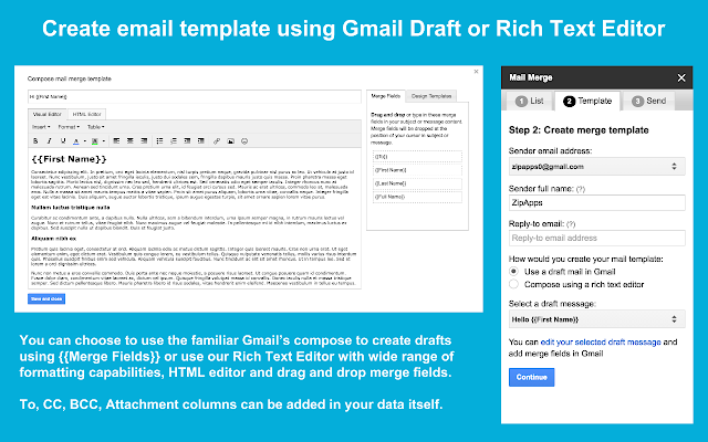 Mail Merge G Suite Marketplace - Email template google