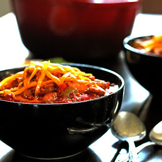 Meaty Beef and Pork Chili with 3 Beans.