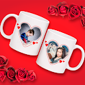 Couple Cup Photo Frame icon