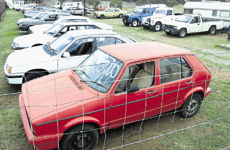Stolen car. Picture: SUNDAY TIMES