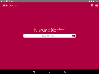 Nursing Reference Center Plus- screenshot thumbnail