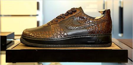 Photo: Real Alligator skin Nike. If 1000 people want these how many alligator should Nike kill?