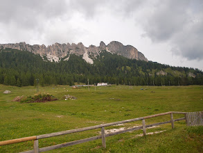 Photo: Nabij Lago di Misurina, uitzicht op de Sorapiss groep.